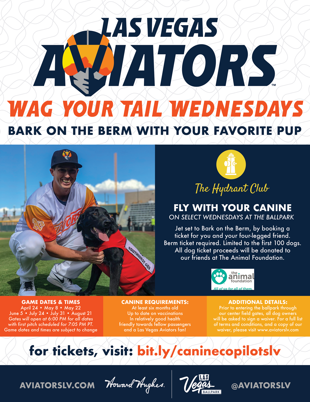 wag your tail wednesdays aviators flier